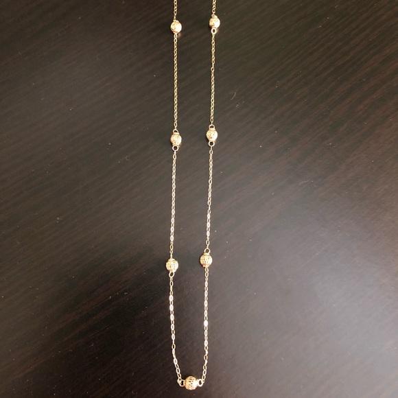 Zales Jewelry | Beaded Station Necklace 14k Gold | Poshmark